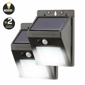 Genuine 20 LED Solar Security Lights UK Climate Designed - (Multiple Options)