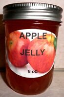 Fresh APPLE JELLY 1/2 Pint (8 oz.) Organic, No Chemicals, FREE SHIPPING