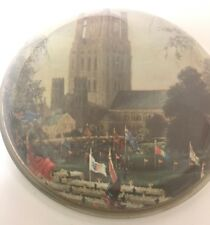 Nigel Pain Paperweight Souvenir Ely Cathedral Hand Cast Glass Vintage