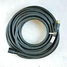50' 10 Gauge Black Extension Cord - MADE IN USA