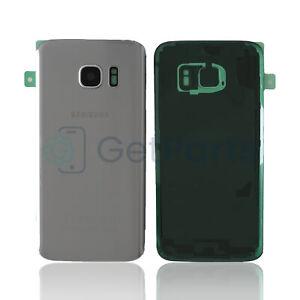 Backcover für Original Samsung Galaxy S7 Silber G930F Glas Akkudeckel silver