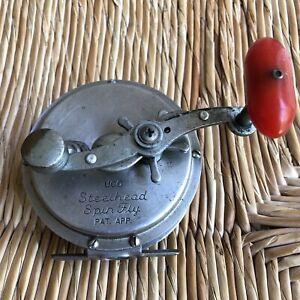 Vintage UCO Steelhead Stainless Steel Spin Fly Reel pat. Pending