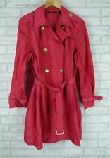 BLACK LABEL BY CHICO'S Sz 3 Red Trench style belted waist