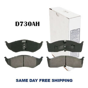 Ceramic w/Hardware Front Brake Pad For Chrysler 300M, Town & Country, Prowler
