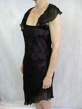 Zimmermann Size 3 or 12 Black Purple Silk a-symmetrical Evening Dress