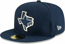 Dallas Cowboys New Era STATE METAL FRAME LOGO Fitted 59Fifty NFL Hat - Navy/Gold