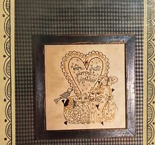 Mulberry Folk Art Primitive Stitchery Pattern - Cats - Pre-Owned