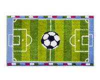 Tappeto cameretta 80X140 cm bambini morbido shaggy camera campo calcio pallone