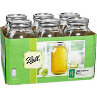 Ball 1440096259 6-Count Wide Mouth 64-Ounce Jars with Lids and Bands