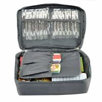 Grey Outdoor Travel First Aid Kit Bag Home Small Medical Box Emergency Survival