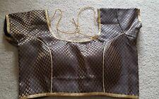 Readymade Brocade Black Saree Blouse, Designer Sari Blouse, black with gold