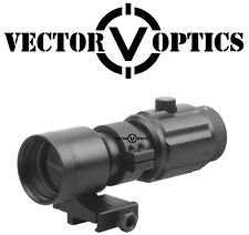 VectorOptics Rubber Armored 5x Magnifier Scope Sight 30mm Flip to Side QD Mount