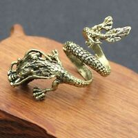 Exaggerated Dragon Ring Fashion Open Men's Rings Gold Color Jewellery