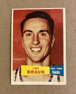 1957-58 TOPPS BASKETBALL #4 Carl Braun New York Knicks