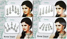 1 PACK of SILVER Diamante **CHOOSE YOUR STYLE** Indian BRIDAL Gem TIKKA BINDI