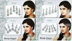 1 PACK of SILVER Diamante **CHOOSE YOUR STYLE** Indian BRIDAL Gem TIKKA BINDI