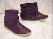 Fransen Boots Stiefelette Größe 39 Slouch Stiefelette Lila
