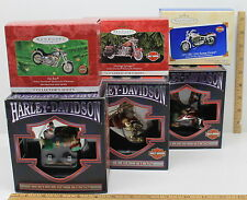 3 Hallmark Keepsake Harley-Davidson Die Cast Christmas Ornaments + 3 Cavanagh