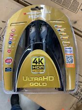 Monster 4K HDR Ultra HD Gold 60Hz 21.0Gbps 6ft HDMI Cable - New