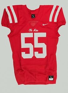New Nike Ole Miss Rebels Custom Vapor Pro Football Jersey Men's L 908632 $120