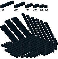 Lego - Bricksy's Bascis - Black - A44 - Basicsteine schwarz - schmal - 40Stk 1x1