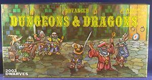 10 Grenadier Miniatures Dwarves 2003 D&D w/Box +insert no paint like Ral Partha