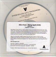 (CU426) Alice Gun, Rising Spell / Rob Marr, Fencebuilding - 2012 DJ CD