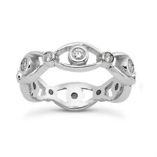 0.70 ct Ladies Round Cut Diamond Eternity Wedding Band In 18 Karat White Gold