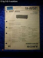 Sony Service Manual TA AV581 Amplifier  (#5640)