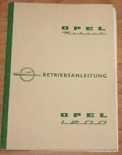 Opel Rekord P1 Record   Betriebsanleitung Bedienungsanleitung  1959