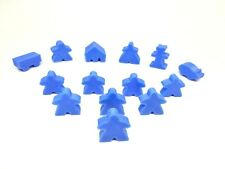 Carcassonne extra player meeples set with 6 extra bits