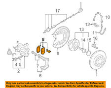 VW VOLKSWAGEN OEM 08-10 Jetta Brake-Rear Pads 1K0698451G