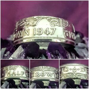 Coin Ring Size Z+2 1947 Halfcrown Coin Ring