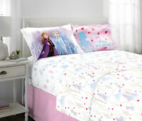 Frozen II Kids Bed Sheet Set, Elsa & Anna, Spirit of Nature, Twin or Full