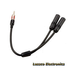 Car Stereo Antenna Splitter Y Shape Adaptor 1 Male to 2 Female