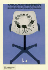 Framed Print - Eames Office Chair Poster Herman Miller Inc. (Picture Bertoia)