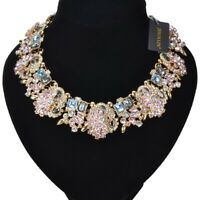 Fashion Women Crystal Choker Chunky Necklace Acrylic Statement Chain Bib Jewelry