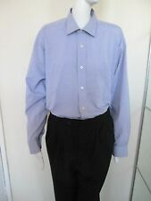 VAN HEUSEN - VIOLET CHECKED L/SLEEVED Shirt Size 15.5 NECK  COTTON BLEND