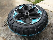 Power Wheels Wild Thing Blue plastic wheel rim tire