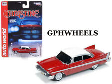 AUTO WORLD 1958 58 PLYMOUTH FURY CHRISTINE COLLECTIBLE MOVIE CAR -Red, MIP