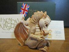 New ListingHarmony Kingdom Henna Orange Dragon Uk Made Marble Resin Box Figurine Sgn