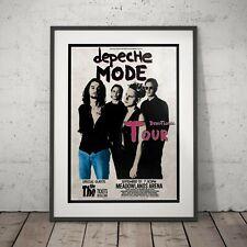 More details for depeche mode - devotional tour concert poster five print or four frame options