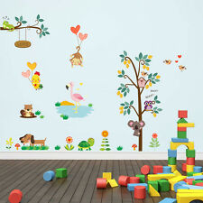 Wall Sticker Large Animals Cartoon Monkey Nursery Decor Removable Kids Decal