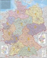 Poster Zip Codes Card GERMANY VERTICAL FORMAT 26 3/8x33 7/8in 010104b