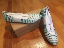 NIB Lucky Brand LK-EMMIE Ballet Flat Shoes Sunshine Tye Dye Linen Print  9.5M