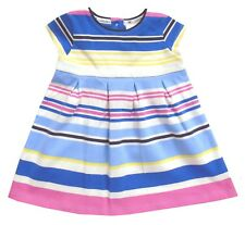 Jasper Conran Baby Girl Dress Pink Blue Striped Summer Party 6-9 Months