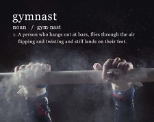 Gymnastics Gymnast Motivational Poster Art Print Balance Beam Bars Leotard WEB05