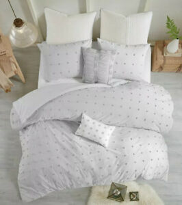 ✅ Urban Habitat 7-Pc Cotton Duvet Cover Set KING/CAL KING Gray