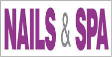 Nails Amp Spa Vinyl Banner Salon Sign 20x48 Inch Wb