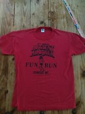 Vintage 80s Red Russell Athletic T Shirt Large Ancient Mariner run, Conrad 50/50